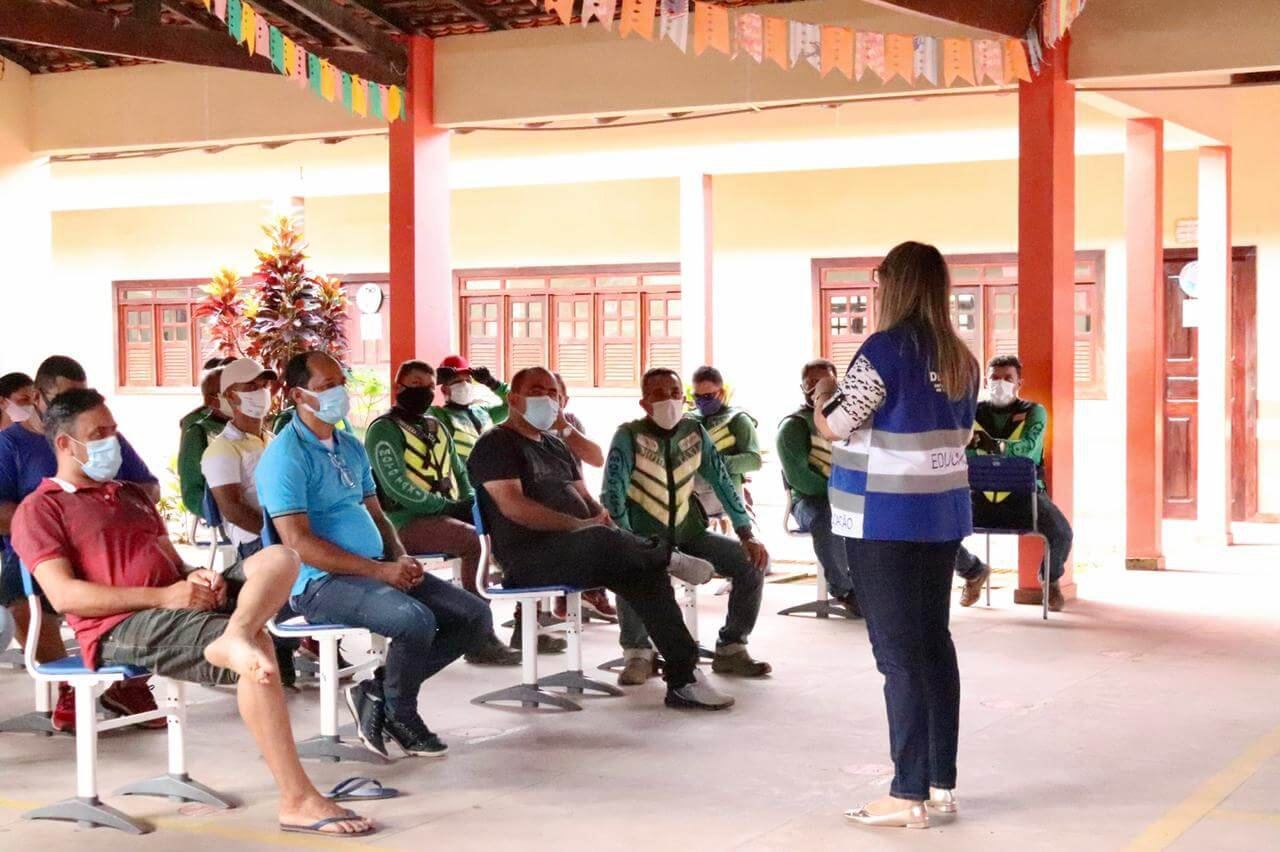 Curso de Atualização de Mototaxista em Laranjal do Jari
